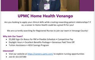 UPMC Home Health Venango - Nursing Opportunities